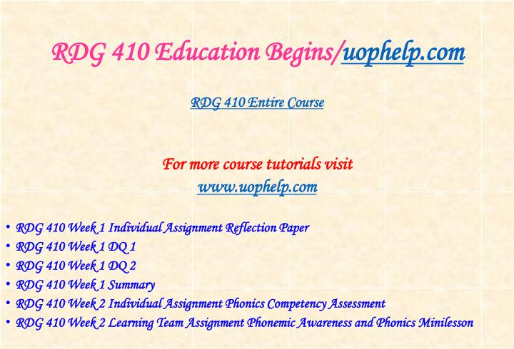 Rdg 410 education begins uophelp com1