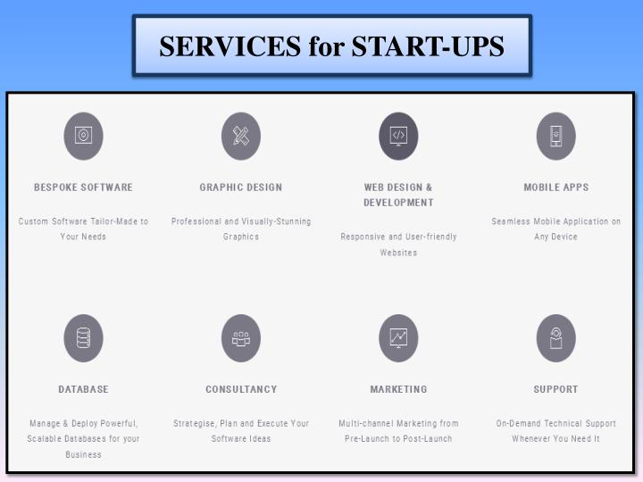 SERVICES for START-UPS