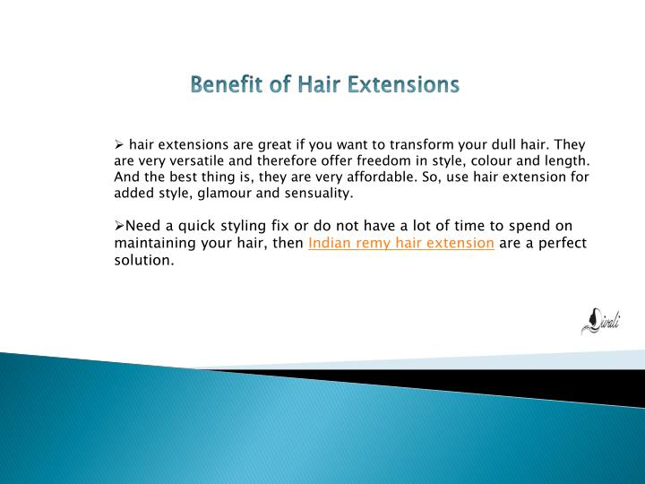 Benefit of Hair Extensions