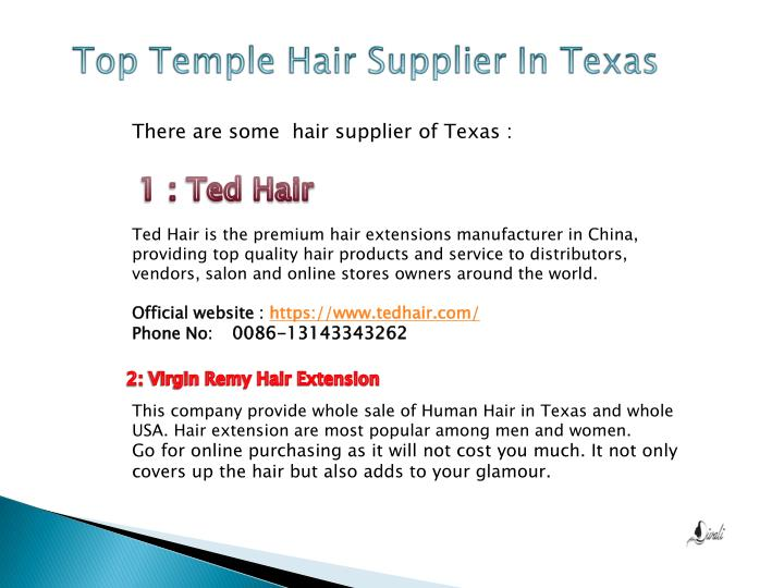 Top Temple Hair Supplier In Texas