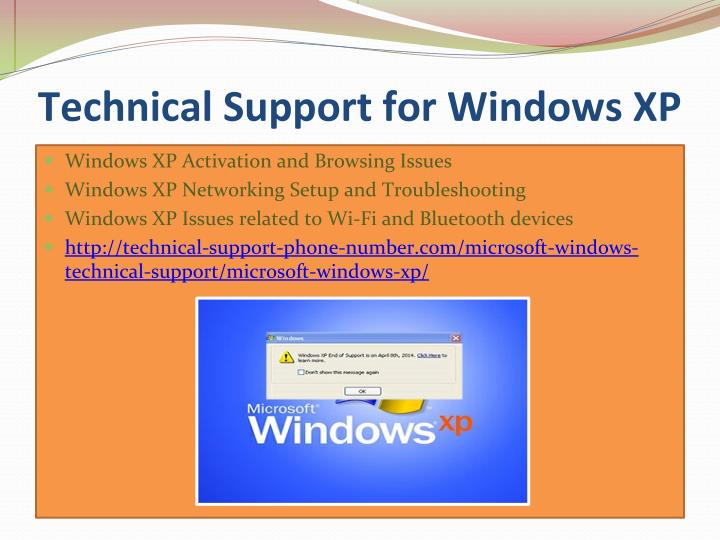 Technical Support for Windows XP