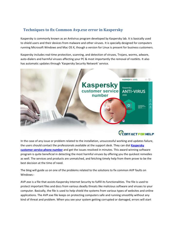 Techniques to fix Common Avp.exe error in Kaspersky