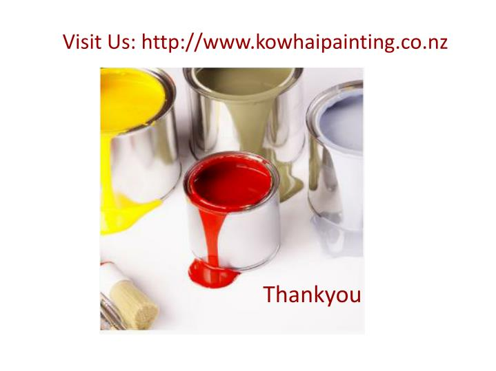Visit Us: http://www.kowhaipainting.co.nz