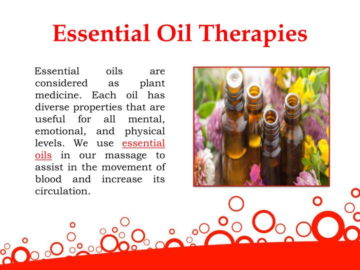 Essential Oil Therapies