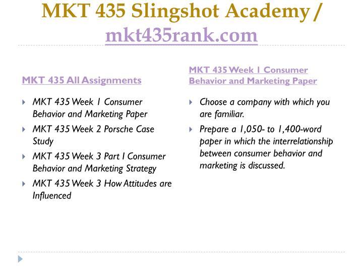MKT 435 Slingshot Academy /