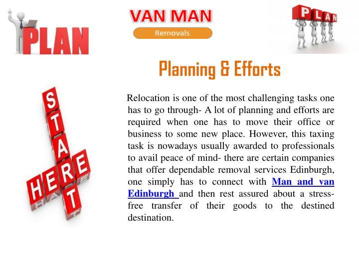 Planning & Efforts