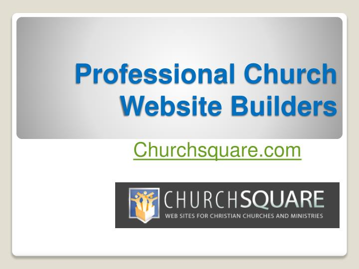 Professional church website builders