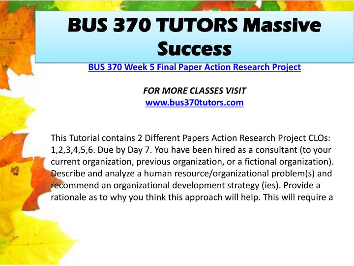 BUS 370 TUTORS Massive Success