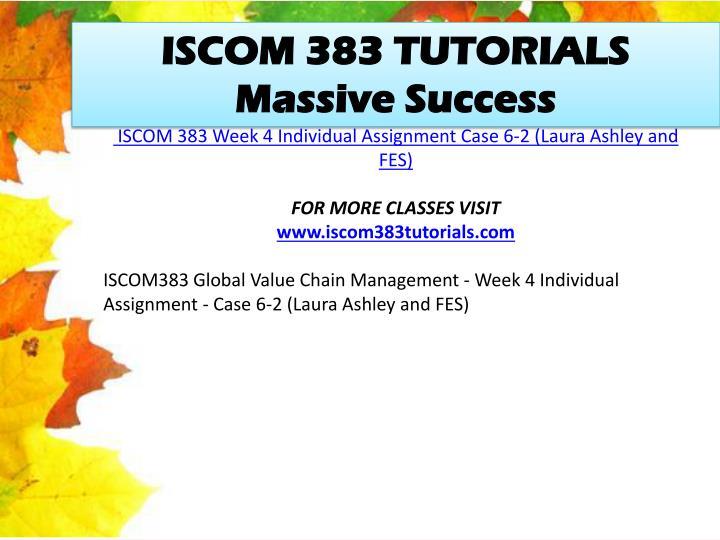 ISCOM 383 TUTORIALS Massive Success