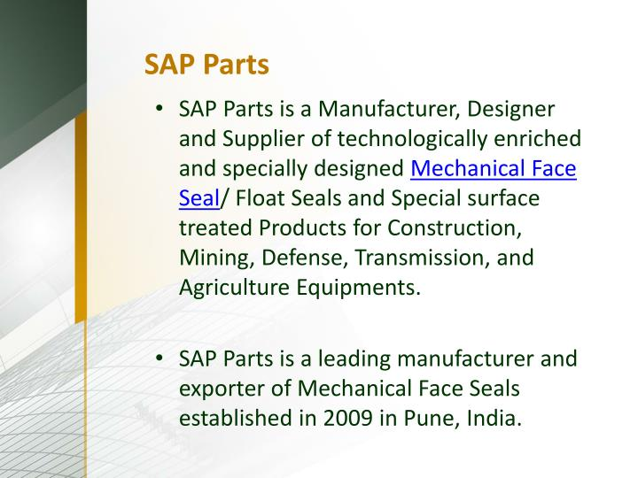 SAP Parts