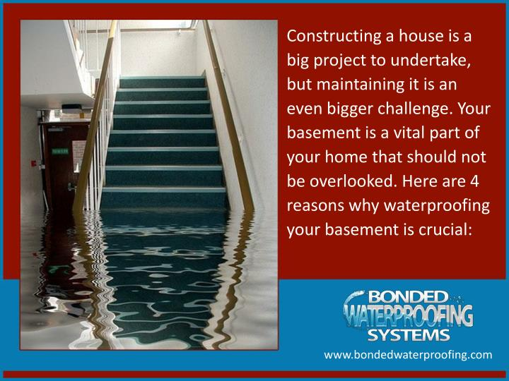Constructing a house is a big project to undertake, but maintaining it is an even bigger challenge. Your basement is a vital part of your home that should not be overlooked. Here are 4 reasons why waterproofing your basement is crucial: