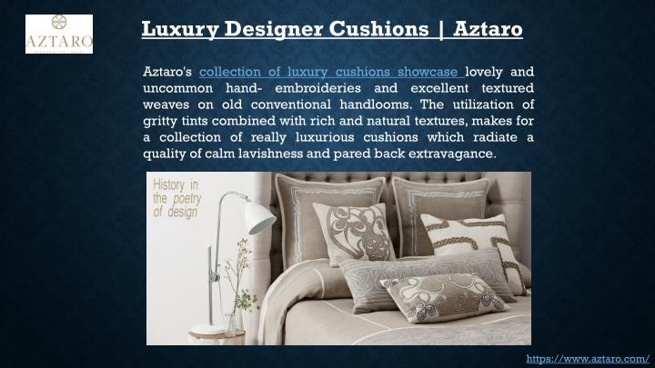 Luxury Designer Cushions | Aztaro