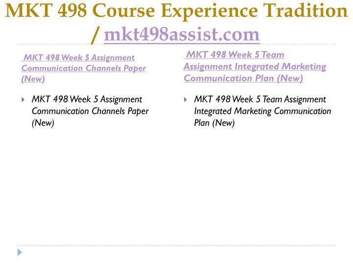 MKT 498 Course