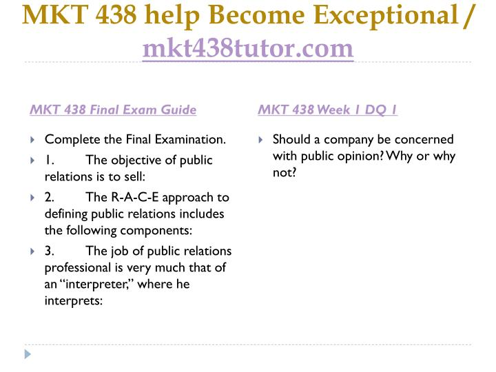 Mkt 438 help become exceptional mkt438tutor com2