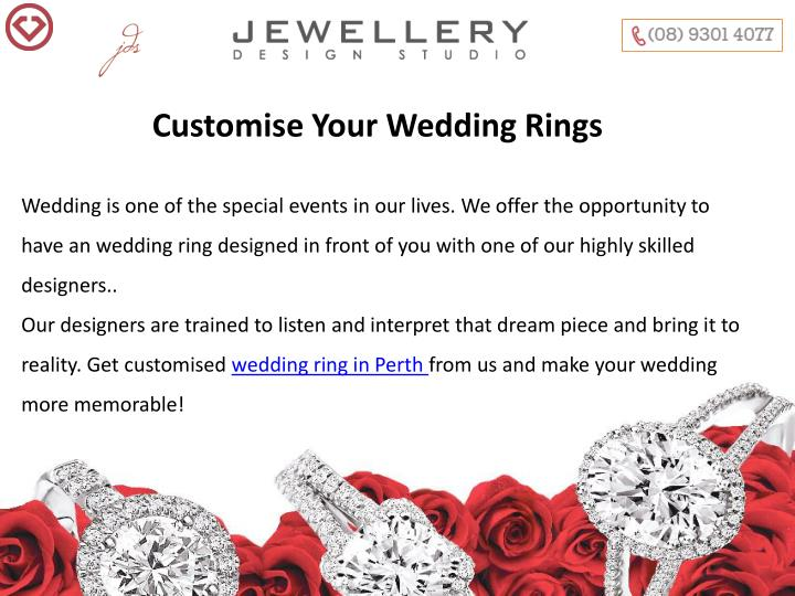 Customise Your Wedding Rings