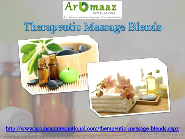 Therapeutic Massage Blends