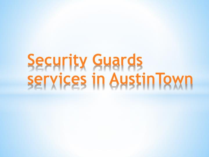 Security Guards services in