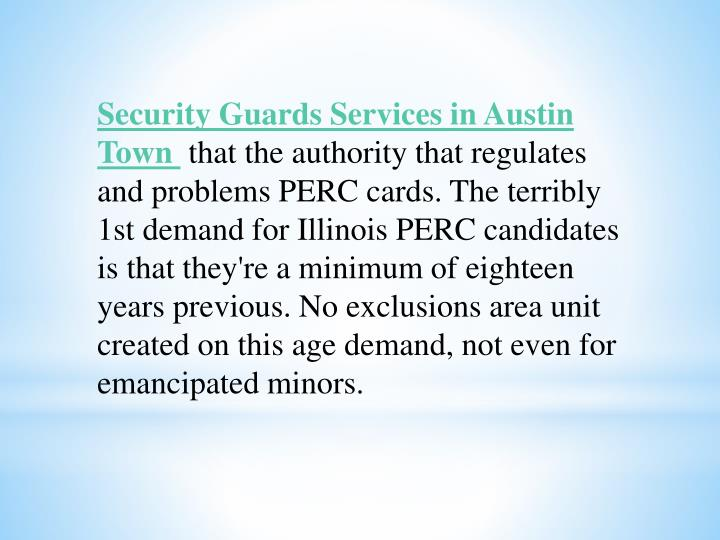 Security Guards Services in Austin Town