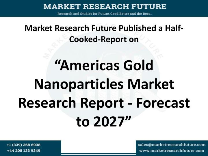 Market Research Future Published a Half-