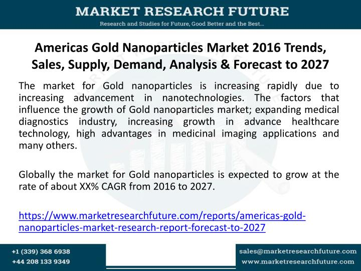 Americas Gold Nanoparticles Market 2016 Trends,