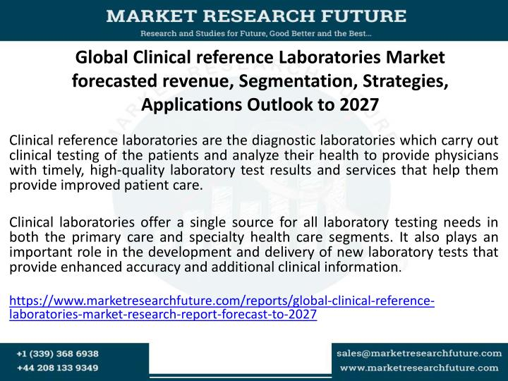 Global Clinical reference Laboratories Market