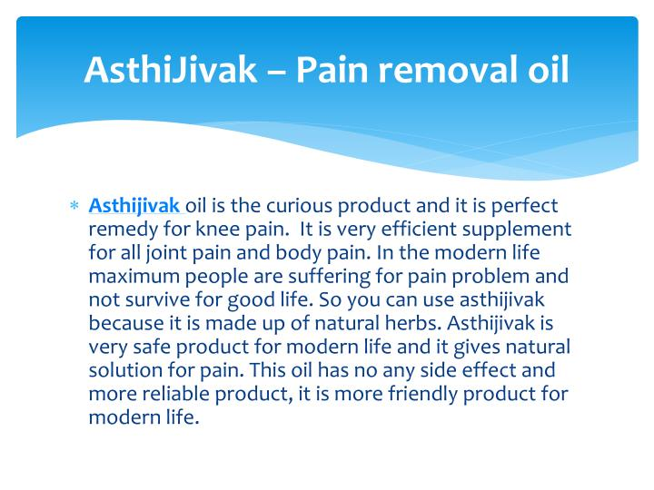 AsthiJivak – Pain removal oil