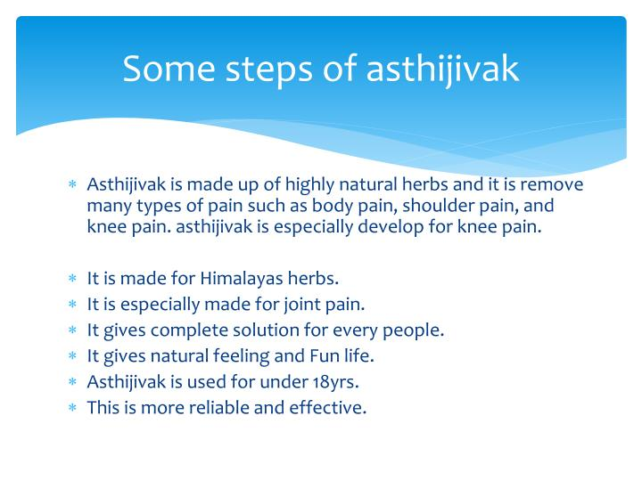 Some steps of asthijivak