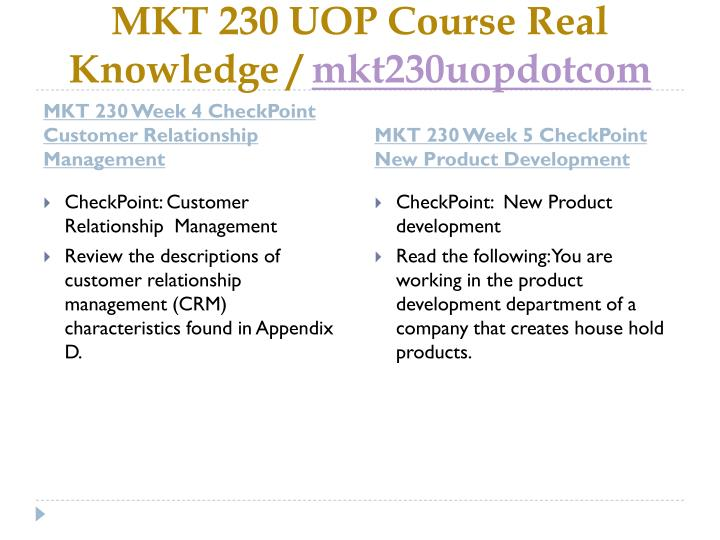 MKT 230 UOP Course Real Knowledge /