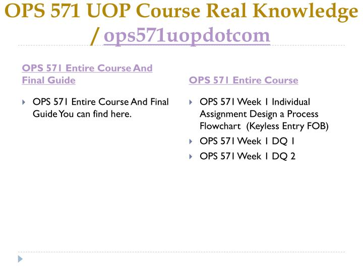 Ops 571 uop course real knowledge ops571uopdotcom1