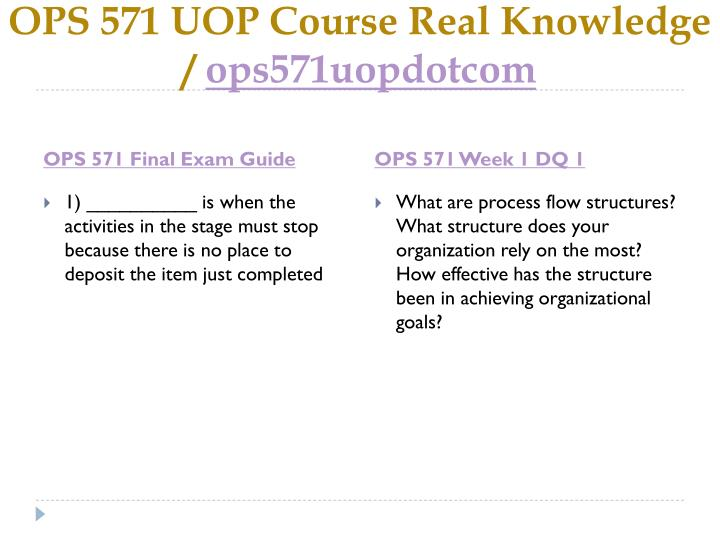Ops 571 uop course real knowledge ops571uopdotcom2