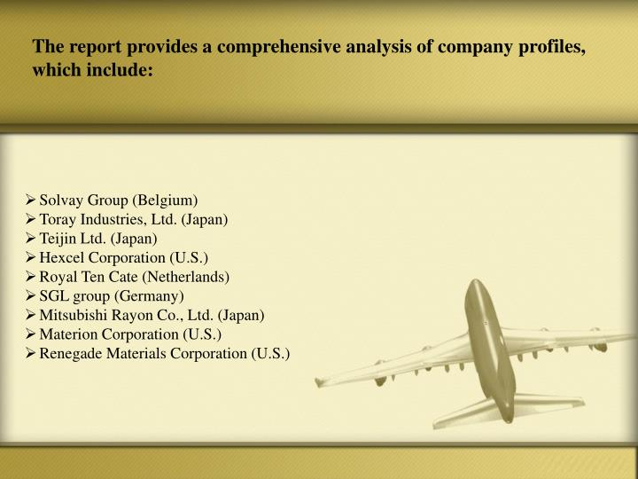 The report provides a comprehensive analysis of company profiles, which include: