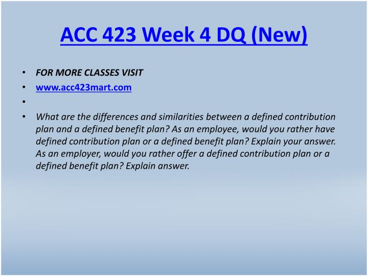 ACC 423 Week 4 DQ (New)