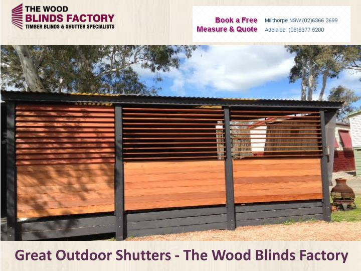 Great outdoor shutters the wood blinds factory