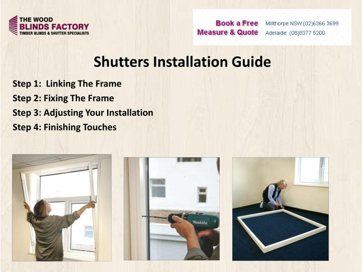 Shutters Installation Guide