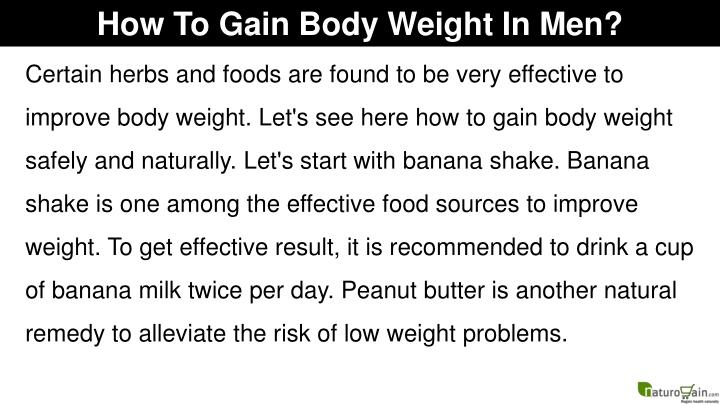 How To Gain Body Weight In