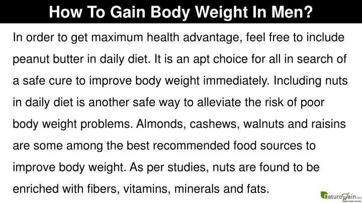 How To Gain Body Weight In Men?