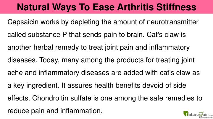 Natural Ways To Ease Arthritis Stiffness
