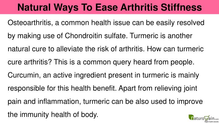Natural Ways To Ease Arthritis Stiffness