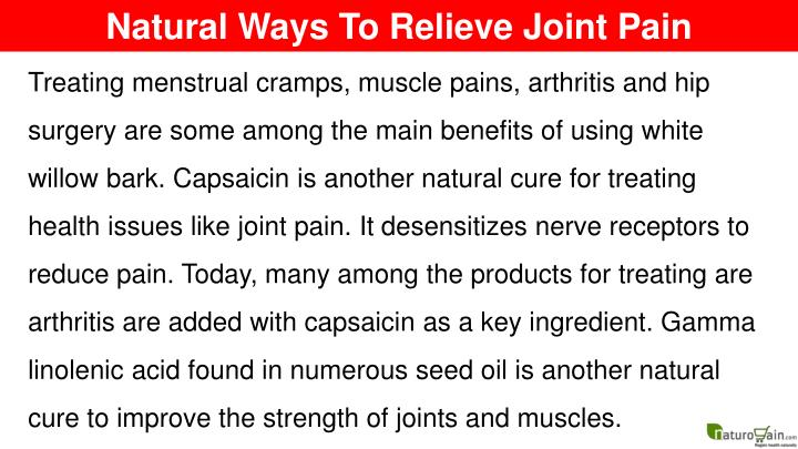 Natural Ways To Relieve Joint Pain