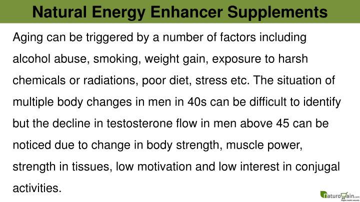 Natural Energy Enhancer Supplements