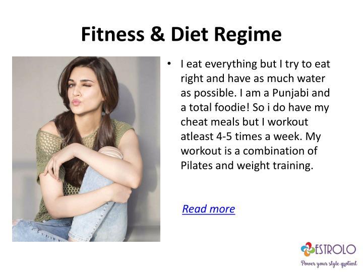 Fitness & Diet Regime