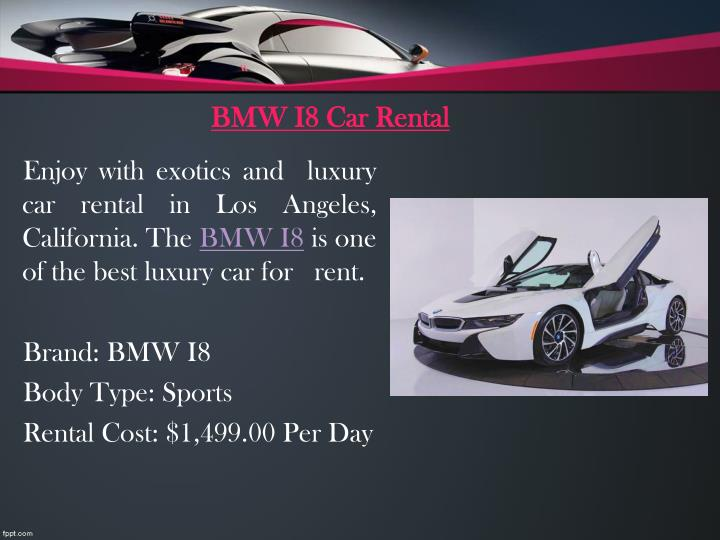 BMW I8 Car Rental