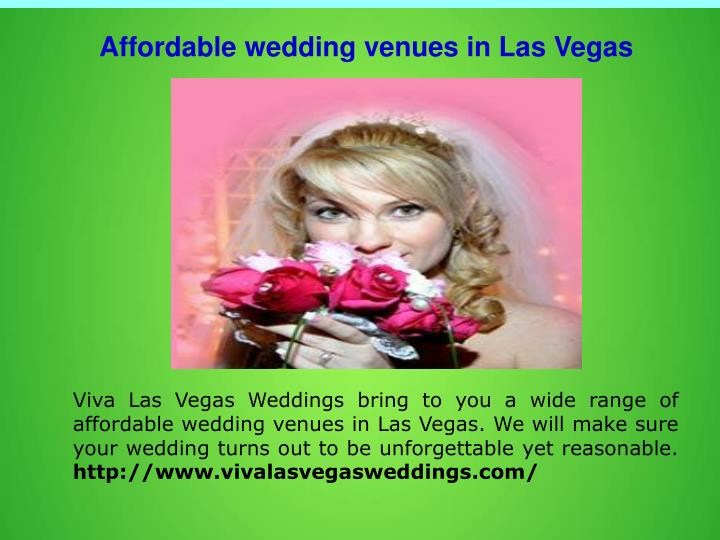 Affordable wedding venues in Las Vegas