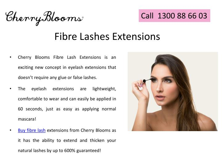 Fibre lashes extensions
