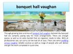 banquet hall vaughan