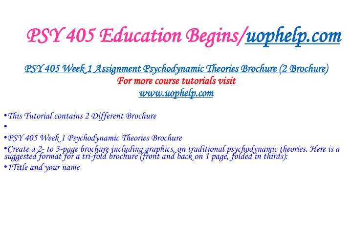 Psy 405 education begins uophelp com2
