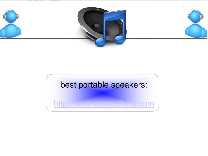 best portable speakers: