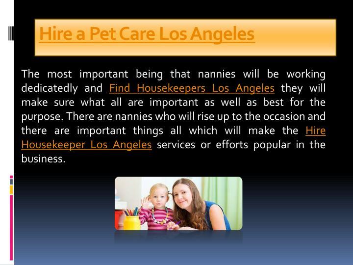 Hire a Pet Care Los Angeles