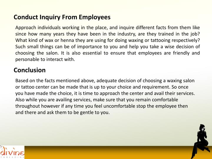 Conduct Inquiry From Employees