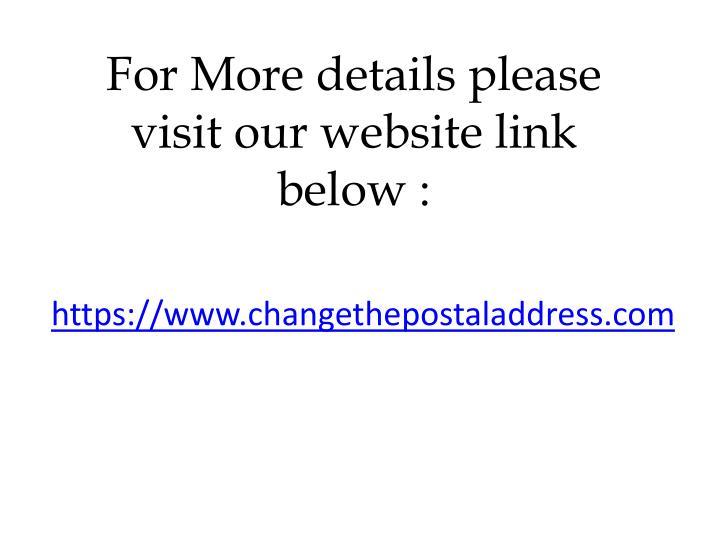 For More details please visit our website link below :